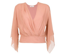 silk wrap blouse