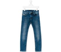 SkinnyJeans mit Farbeffekt