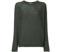metallic thread knitted jumper