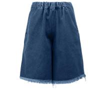 Jeans-Shorts mit ungesäumter Kante