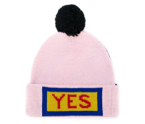 Yes embroidered beanie