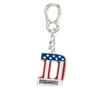 Schlüsselanhänger mit Flaggen-Print
