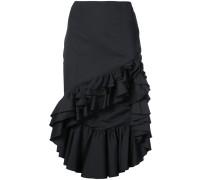 ruffled trimmed asymmetric skirt