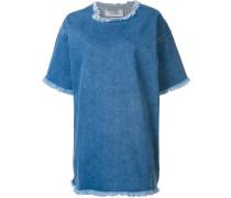 Oversized-Kleid mit ungesäumten Kanten