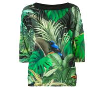 - T-Shirt mit tropischem Print - women