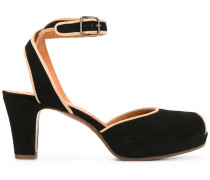 Peeptoe-Sandalen mit Blockabsatz