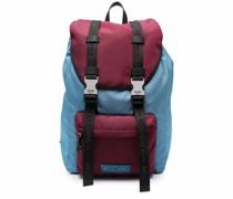 Zweifarbiger Rucksack mit Logo-Patch