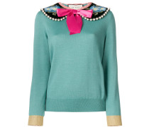 peter pan collared sweater