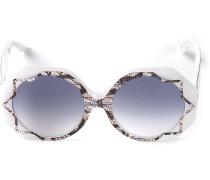 'Pinstripe Lace' Sonnenbrille mit Musterung
