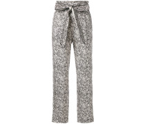 floral brocade trousers