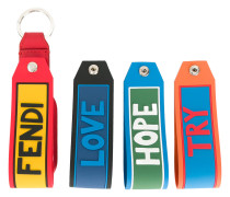 Vocabulary set of 4 keyrings