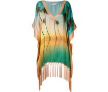 palm tree print beach dress