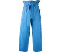 Paperbag-Hose mit weitem Bein - women