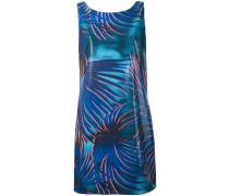 Kleid mit Blatt-Print