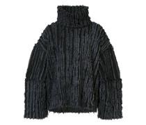Ausgefranster Oversized-Pullover