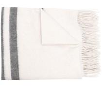 striped fringed scarf