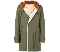 back print hooded coat - Unavailable