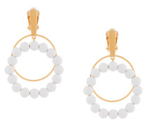 beaded double hoop earrings