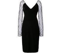 Kleid mit semi-transparenten Ärmeln