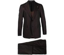 Einreihiger Anzug mit Streifen