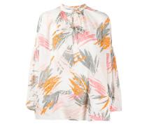 Oversized-Bluse mit Schleifenkragen