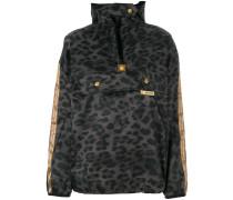 leopard print hooded rain jacket