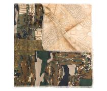 Seidentuch mit Camouflage-Print