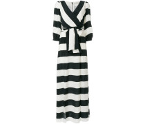 striped tie waist maxi dress