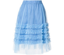 P.A.R.O.S.H. ruffle tulle A-line skirt