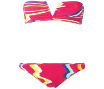 Bikini mit Zickzack-Print