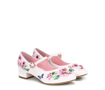 floral buckled ballerinas