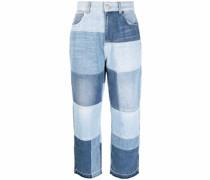 Gerade Jeans im Patchwork-Look