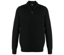 half-zip virgin wool jumper