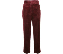 cropped high-waisted trousers