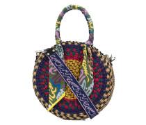 Runde Handtasche mit Muster