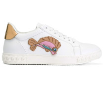 Sneakers mit Fisch-Patch