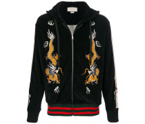 dragon embroidery hooded jacket