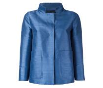 Cropped-Jacke mit aufgesetzten Taschen