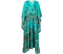 Kimono-Kleid mit Blumen-Print