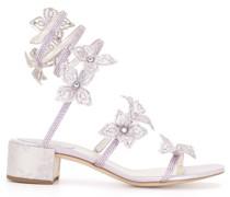 Sandalen mit Blumenapplikation 105mm