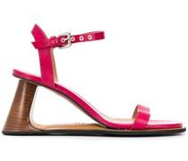 Sandalen mit Designabsatz, 85mm