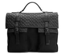 greek key emboss briefcase
