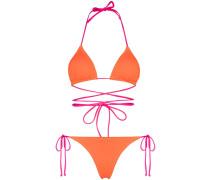 Miami tie detail bikini set