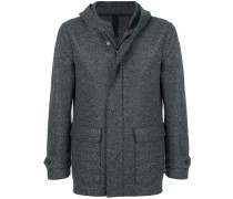 zipped fitted coat