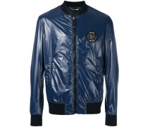 glossy bomber jacket - men