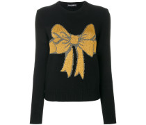 bow embroidered jumper