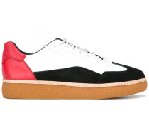colour-blocked lace-up trainers