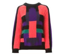 Intarsien-Pullover mit geometrischem Muster