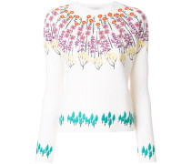 floral embroidered knitted top