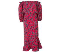 Schulterfreies Kleid mit Print - women